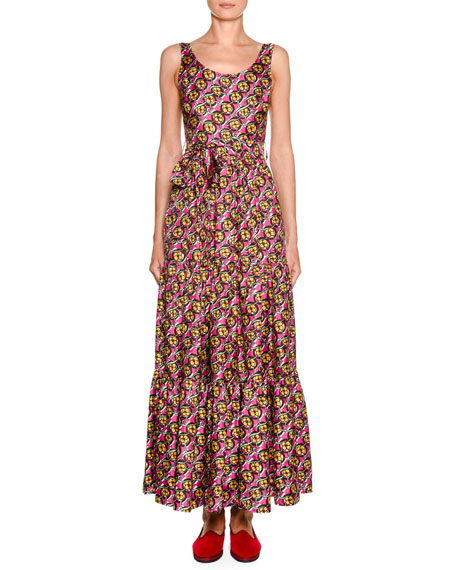 Double J Dinner at the Pellicano Floral-Kaleidoscope Dress
