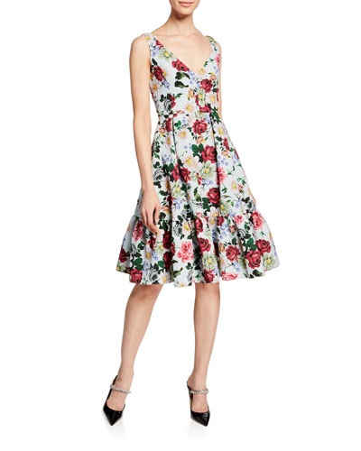 b4d8862ea89b Quick Look. Erdem · Gaby Harriet Garden Floral-Print Dress ...