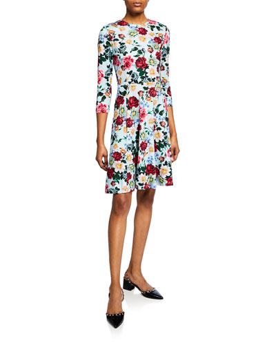 Dione Bracelet-Sleeve Dress