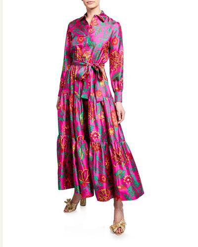 Bellini Silk Shirtdress