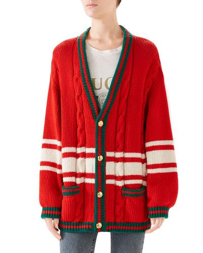 Wool Patchwork Cardigan