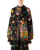 Gucci Bouquet Carre Silk Pull On Shorts and