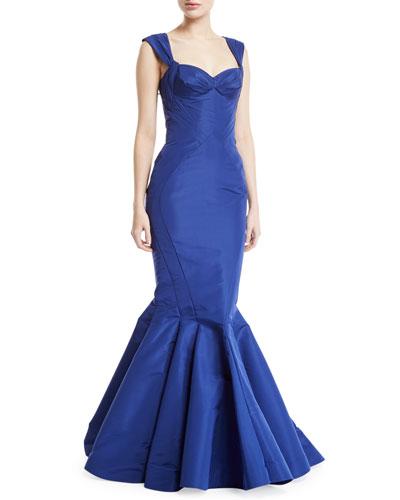 e1d058464910 Quick Look. Zac Posen · Sweetheart Silk Faille Mermaid Gown