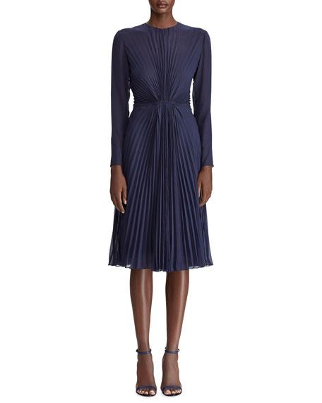 Ralph Lauren Collection Cleona Starburst Pleated Dress