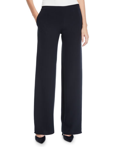 Mid-Rise Silk Trousers
