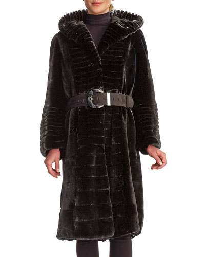 Quick Look. Gorski · Micro Sheared Mink Coat with Hood ... 5d74fa815