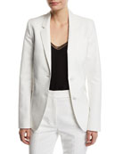 Gabriela Hearst Sophie Single-Breasted Cotton Blazer Jacket and