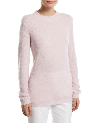 Harius Fluffy Cashmere/Silk Crewneck Sweater