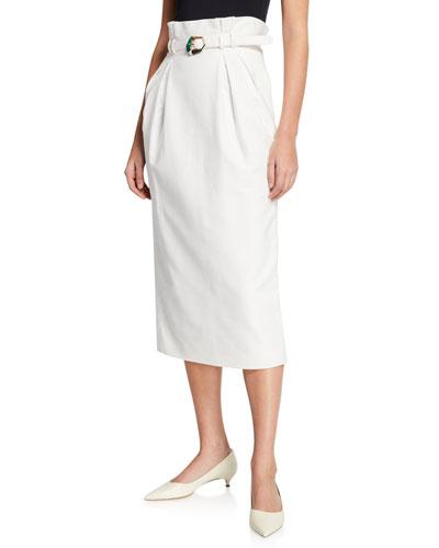 Jordan Belted Midi Skirt