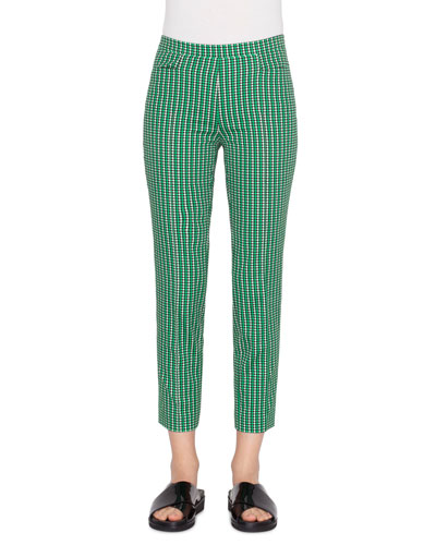 Franca Printed Stretch-Cotton Pants