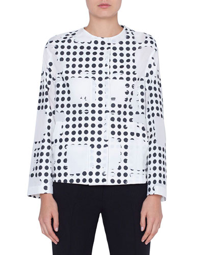 Window Dot Crewneck Jacket