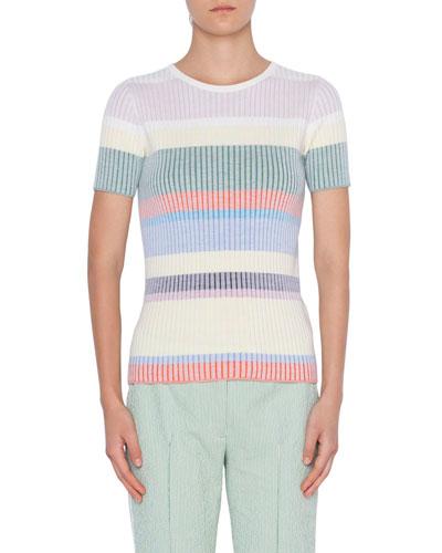 972dc8e92 Ribbed Wool Knit Sweater