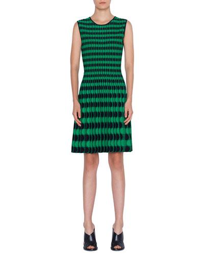 Black Scalloped Dress Neiman Marcus