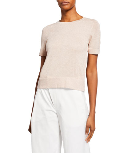 Shimmer Half-Sleeve Sweater