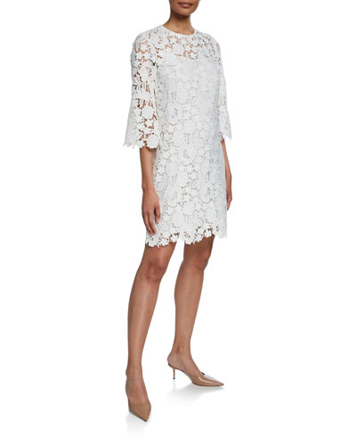 6d51bf6dac5 Quick Look. Lela Rose · Flutter-Sleeve Lace-Illusion Tunic Dress