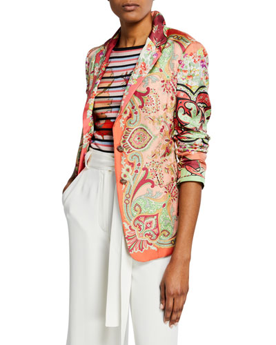 Paisley Silk Twill Jacket
