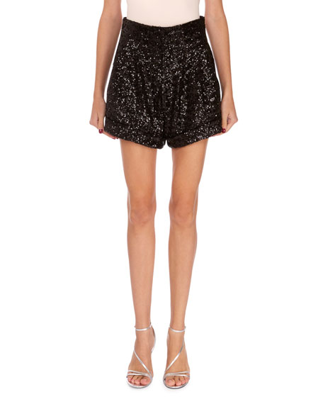 Isabel Marant Orta Sequin Cuffed Shorts