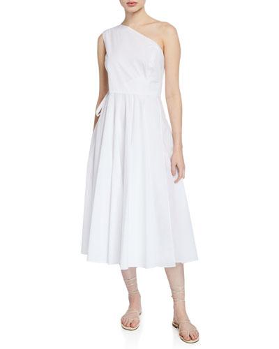 9c2d868c2d6b4 Quick Look. Rosetta Getty · One-Shoulder Midi Tie-Waist Dress