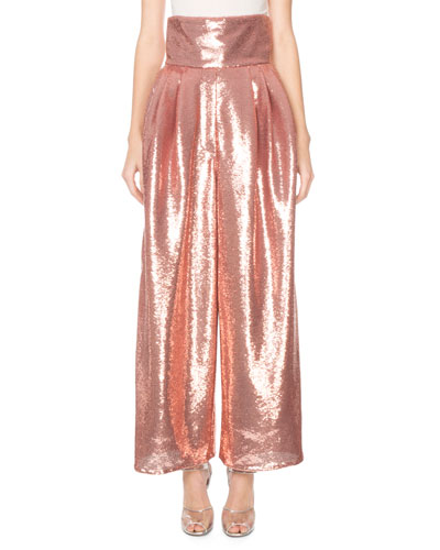 Shiny Sequin Dressy Trousers