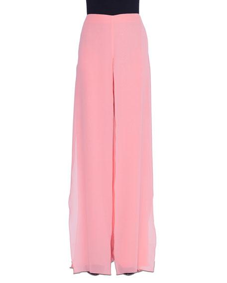 Akris Carmen Wide-Leg Silk Pants