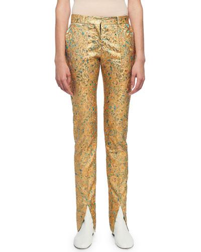 Skinny Flat-Front Pants