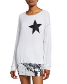 Made on Grand Star-Patch Long-Sleeve Tee