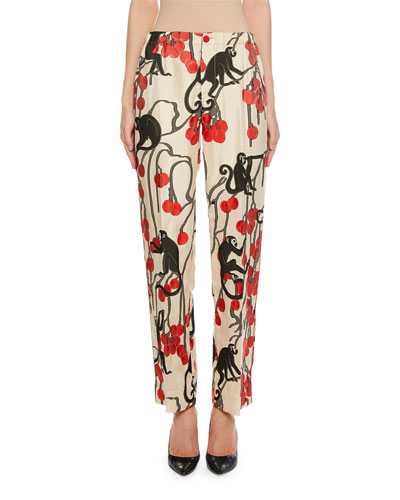 Etre Cherry Jacquard Pants