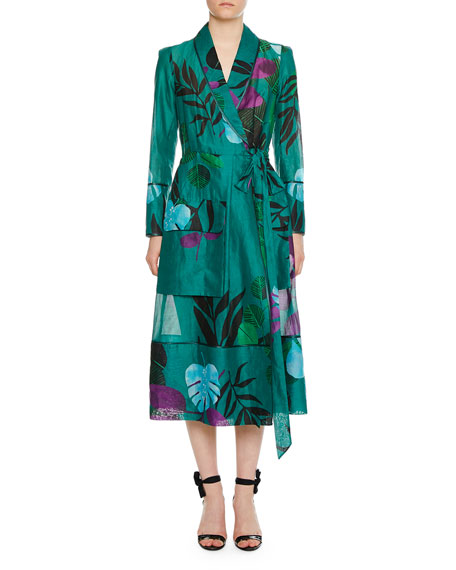 F.R.S For Restless Sleepers Rodo Organza Cotton-Leaf Robe Jacket