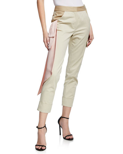 Beaton Cargo Satin Trim Pants