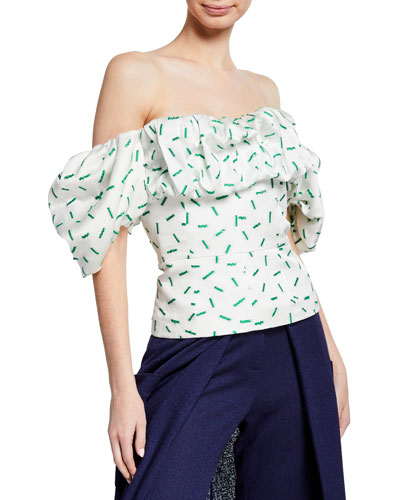 332bb63c3443c Quick Look. Hellessy · Off-The-Shoulder Ruffled Bustier Blouse