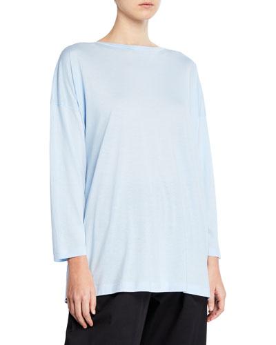 Ultra-Light Cotton Long-Sleeve T-Shirt