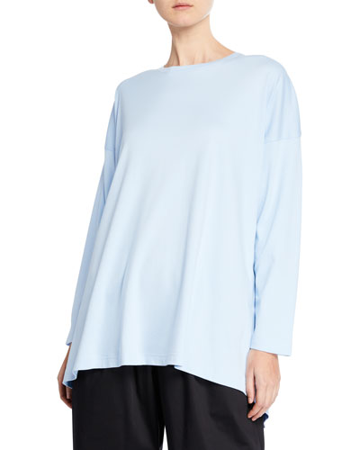 Cotton Basic Cascading T-Shirt