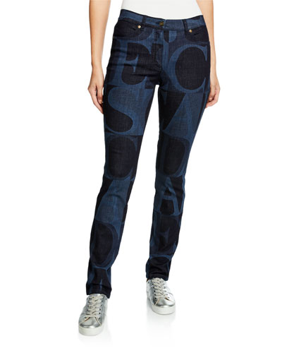J575 Mid-Rise Wordmark Washed Jeans