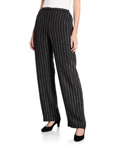 Delave Linen Striped Straight Leg Pants