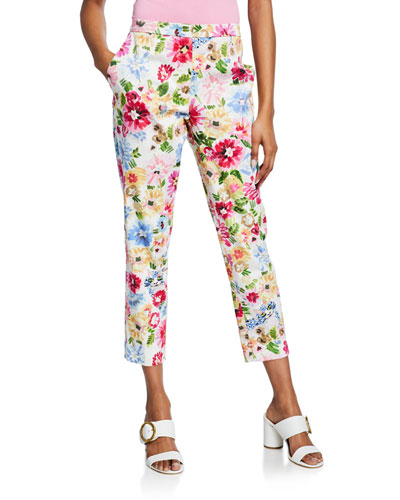 Talarantore Garden Floral Ankle Pants