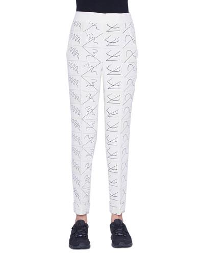 Chris Conical-Leg Leporello Pants