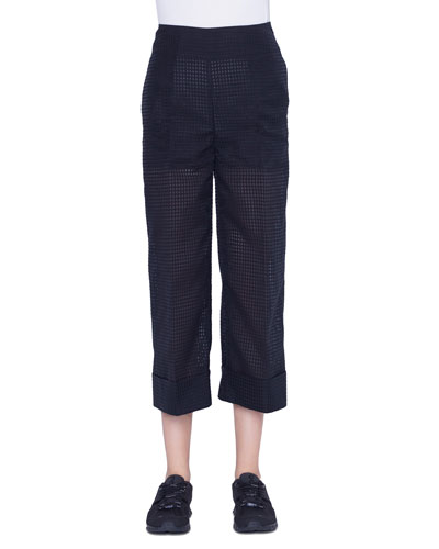 Fella Cropped Wide-Leg Pants