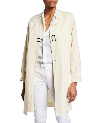 Bago Magnet-Front Cotton Gabardine Coat
