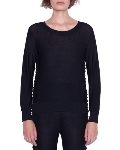 Long-Sleeve Magic Form Stone Pullover