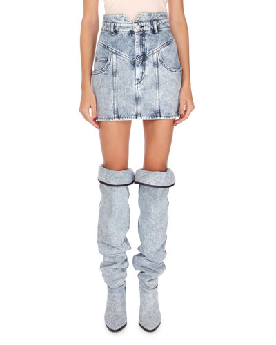 a9c455f0aa Quick Look. Isabel Marant · High-Rise Denim Mini Skirt