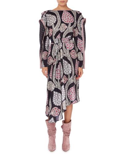 Joella Asymmetric Open-Back Dress