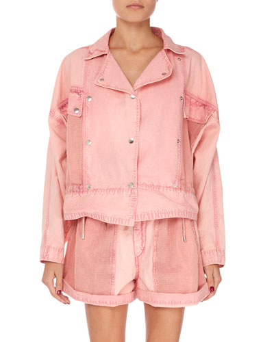 Thalia Snap-Front Shirt Jacket
