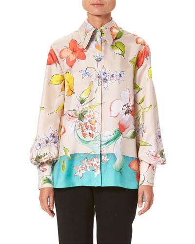 6ddc7564c84c8 Quick Look. Carolina Herrera · Long-Sleeve Floral-Print ...