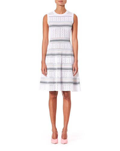 2c105c60e6 Quick Look. Carolina Herrera · Sleeveless Knit Knee Length Dress