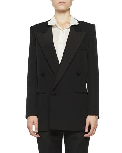 b38ae924 Quick Look. Saint Laurent · Peak-Lapel Tuxedo Blazer. Available in Black