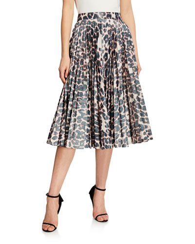 c8c029000 Quick Look. CALVIN KLEIN 205W39NYC · Animal Print Pleated Circle Skirt