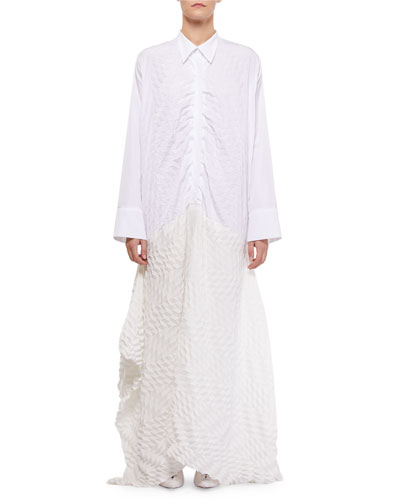 Penhale Long Shirt Long-Sleeve Dress