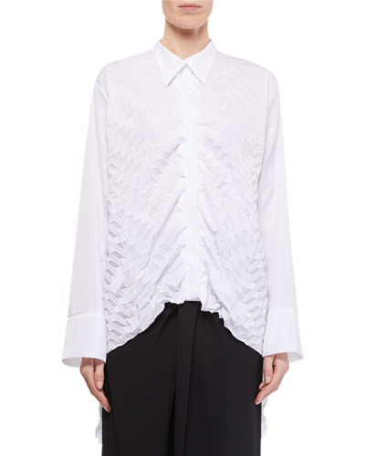 Catalina Long-Back Button-Front Shirt