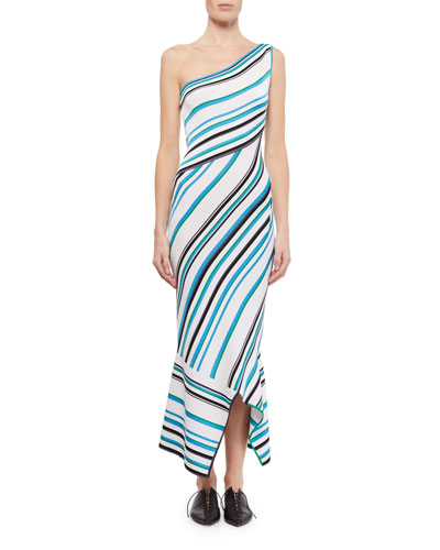 Ada One-Shoulder Asymmetric Dress