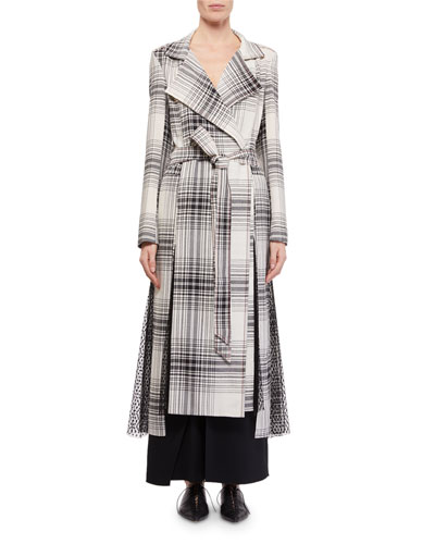 Drummond Plaid Cotton Trench Coat